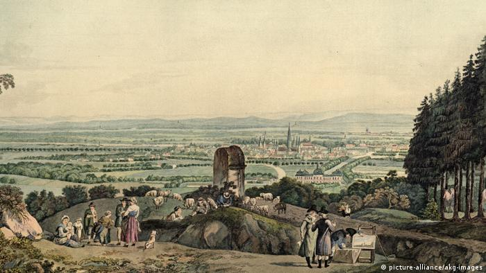 Painting with a hillside view of Bonn around the year 1790. (picture-alliance/akg-images)