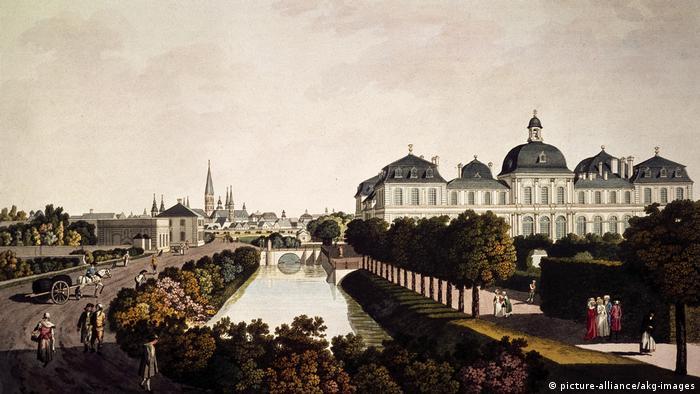 historische Ansicht Bonn um 1790 - Schloss Poppelsdorf