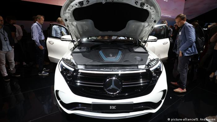 Mercedes-Benz unveils their new electric SUV, the Mercedes EQC, at Artipelag art gallery in Gustavsberg, Stockholm,