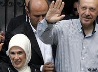 Съпругата на Ердоган също е с мюсюлманска забрадка