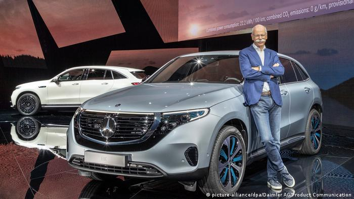 Schweden Premiere Elektro-Fahrzeug EQC von Mercedes-Benz in Stockholm (picture-alliance/dpa/Daimler AG/Product Communication)