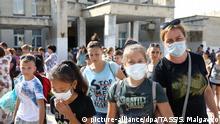 Autonome Republik Krim Armjansk - Bewohner mit Kindern