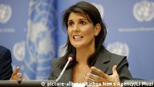 USA UN Nikki Haley in New York