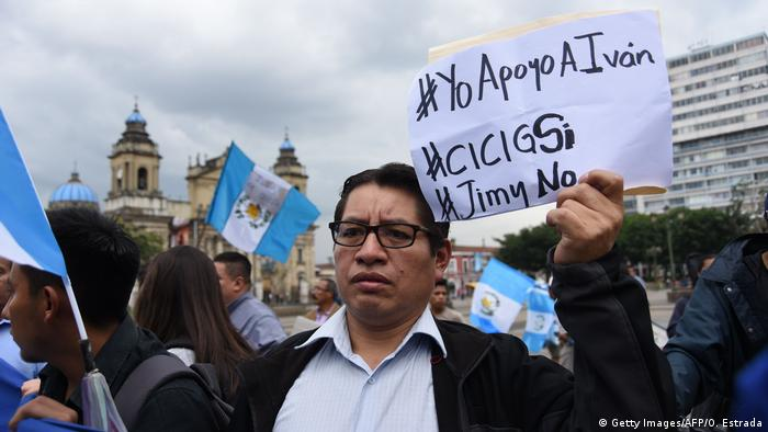 Guatemala Proteste in Guatemala-Stadt (Getty Images/AFP/O. Estrada)