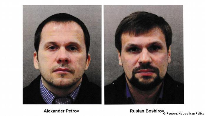 Александр Петров и Руслан Боширов, разыскиваемые по подозрению в отравлении Скрипалей