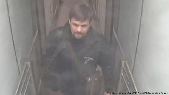 This still taken from CCTV and issued by the Metropolitan Police in London shows Ruslan Boshirov at Gatwick airport, England.