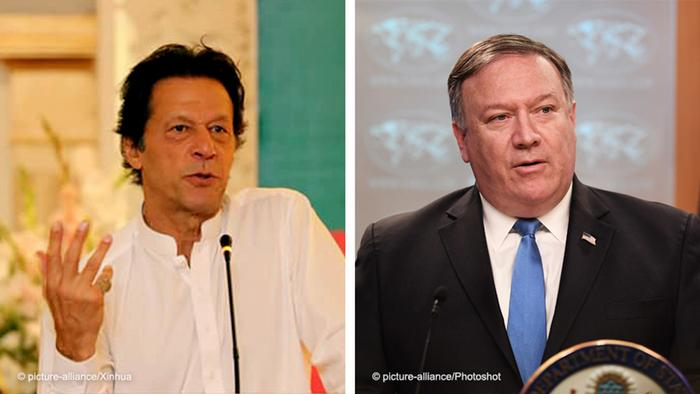 Imran Khan and Mike Pompeo