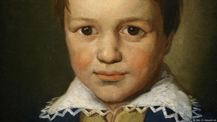 Painting of Beethoven as a 13-year-old
