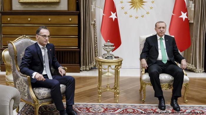 Türkei Ankara Präsident Erdogan und Heiko Maas Bundesaußenminister, Außenminister, Treffen