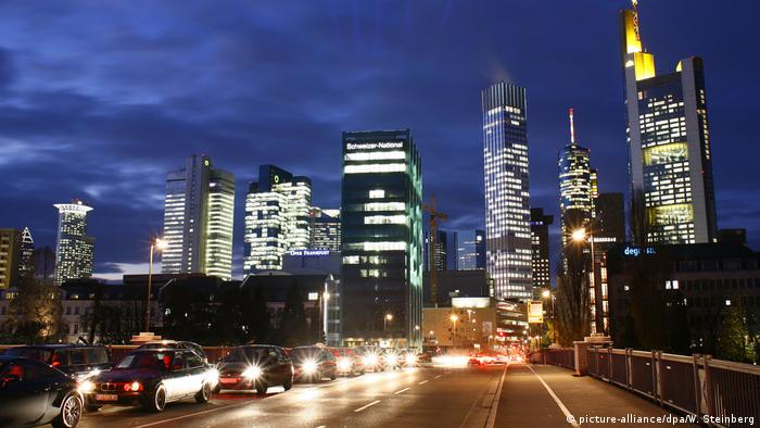 Centrul financiar din Frankfurt