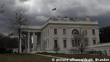 Washington Weißes Haus Dunkle Wolken