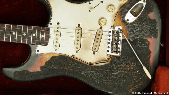 Jimi Hendrix burned Fender Stratocaster