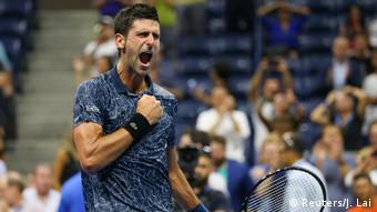 USA, New York: Tennis - US Open: Novak Djokovic (Reuters/J. Lai)