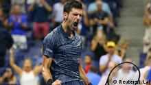 USA, New York: Tennis - US Open: Novak Djokovic