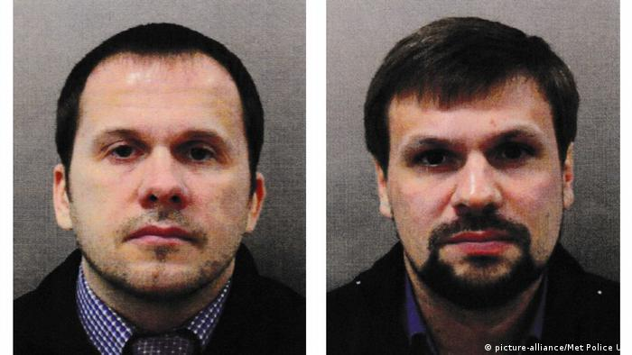 Petrov and Boshirov in the pictures published by the Scotland Yard (picture-alliance/Met Police UK)