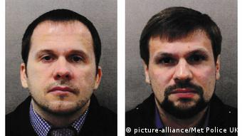 Photographs published by Scotland Yard of the two Russian suspects