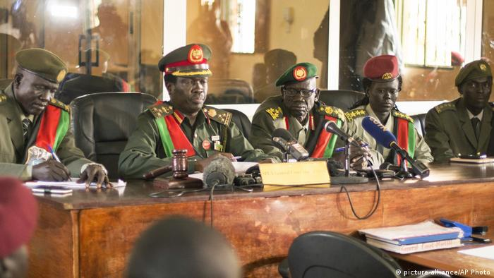 The judge in a military court in South Sudan
