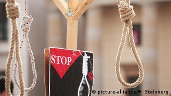 Акция против смертной казни в Берлине