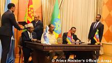 Asmara - Premierminister Abiy Ahmed mit somalischem Präsidenten Formajo und Präsident Isaias