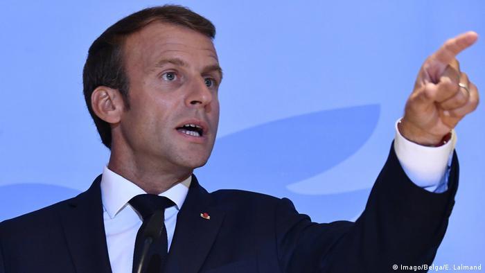 Luxemburg Präsident Emmanuel Macron (Imago/Belga/E. Lalmand)