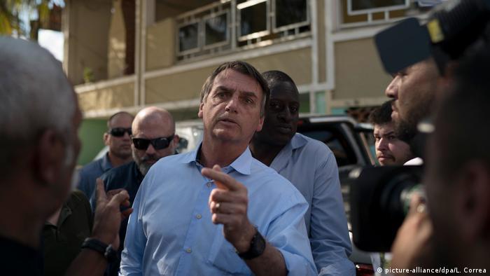 Brasilien Präsidentschaftskandidat Jair Bolsonaro in Rio de Janeiro