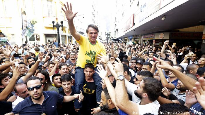 Jair Bolsonaro at a campaign rally