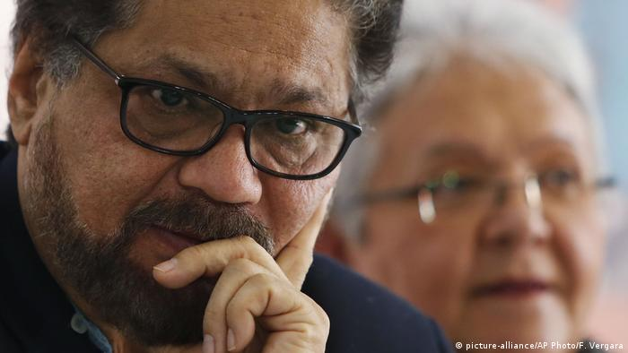 Kolumbien ehem. FARC-Anführer Ivan Marquez (picture-alliance/AP Photo/F. Vergara)