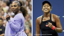 September 6, 2018 - Flushing Meadows, New York, U.S - Serena Williams wins her match against Anastasija Sevastova on Day 11 of the 2018 US Open at USTA Billie Jean King National Tennis Center on Thursday September 6, 2018 in the Flushing neighborhood of the Queens borough of New York City. Williams defeats Sevstova, 6-3, 6-0 | Naomi Osaka of Japan reacts after beating Madison Keys of the United States in straight sets in their semi-final match in Arthur Ashe Stadium at the 2018 US Open Tennis Championships at the USTA Billie Jean King National Tennis Center in New York City on September 6, 2018. Photo by Ray Stubblebine/UPI Photo via Newscom picture alliance |