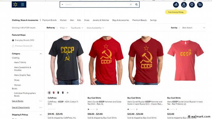 Футболки от Walmart с советской символикой