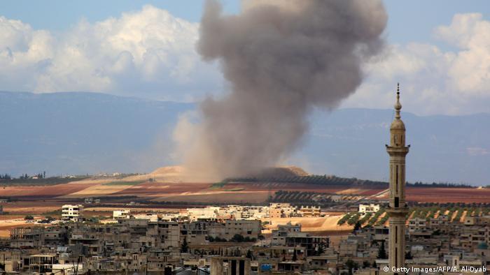 Syrien Angriffe Provinz Idlib (Getty Images/AFP/A. Al-Dyab)