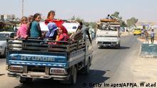 Syrien Flüchtlinge Provinz Idlib