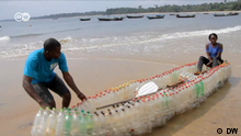 DW eco@africa - a boat made out of plastic bottles in Cameroon