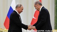 Iran Teheran Syrien Gipfel - Putin trifft Erdogan