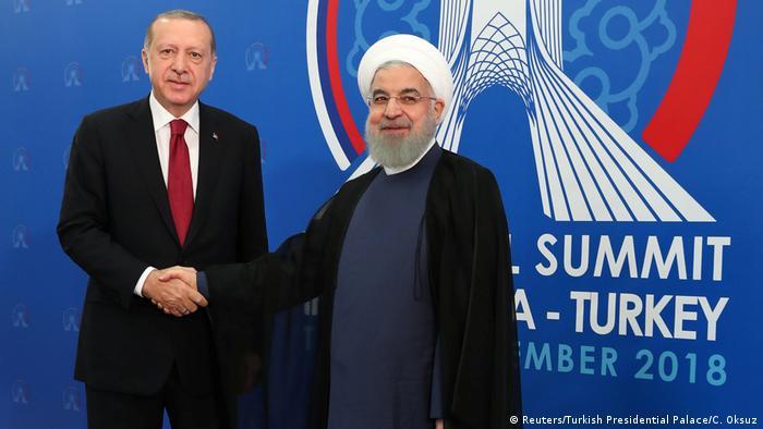 Iran Teheran Syrien Gipfel - Erdogan trifft Rohani (Reuters/Turkish Presidential Palace/C. Oksuz)