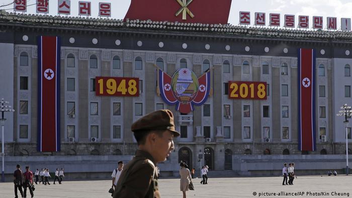 Nordkorea Pjöngjang Vorbereitungen 70 Jahre Nordkorea