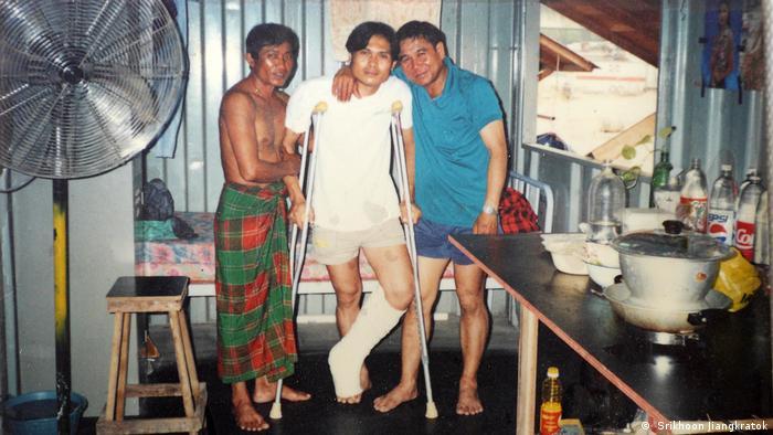 Thai Arbeiter Singapur Verletzung (Srikhoon Jiangkratok)