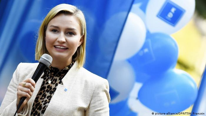 Leader of the Christian Democrats Ebba Busch Thor