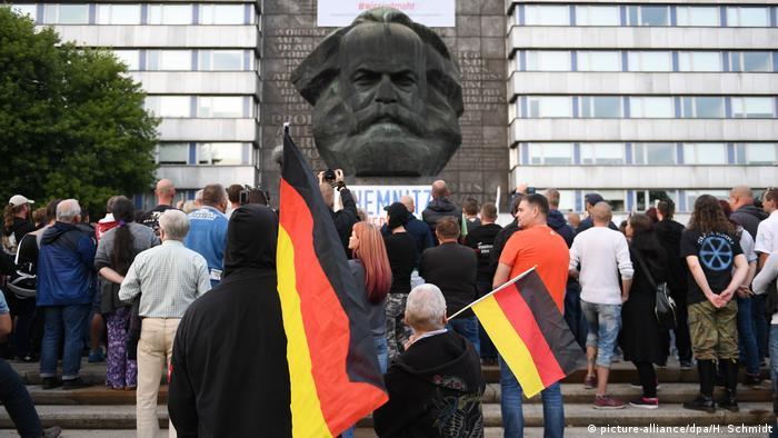 German flags in Chemnitz