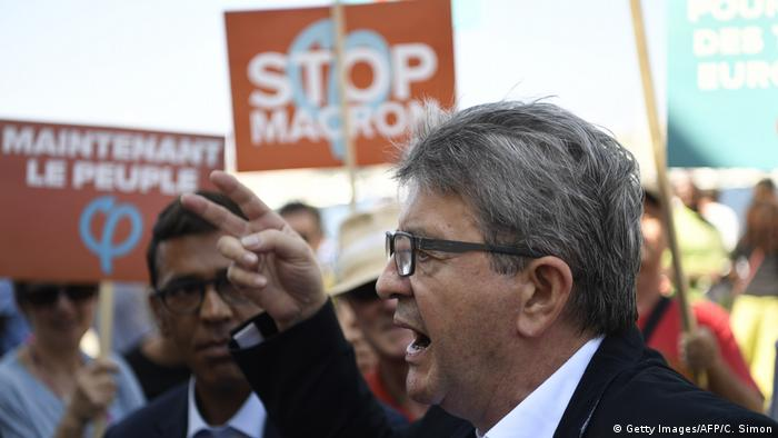 French left-wing opposition leader Jean-Luc Melenchon