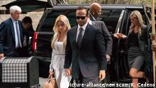 Trump Campaign Associate George Papadopoulos arrives with his wife Simona Mangiante Papadopoulos,.for sentencing at the U.S. District Court House in Washington, D.C. September 7, 2018. Papadopoulos asks to avoid prison in the Mueller probe. Ken Cedeno Photo via Newscom picture alliance |