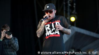 rapper Mac Miller performing on stage 2012