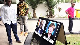 Ghana's president Nana Akufo-Addo and Germany's chancellor Angela Merkel were guests at the Impact Hub in Accra | DW/J. Endert