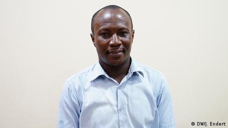 Kent Mensah, Journalist from Accra, Ghana (DW/J. Endert)