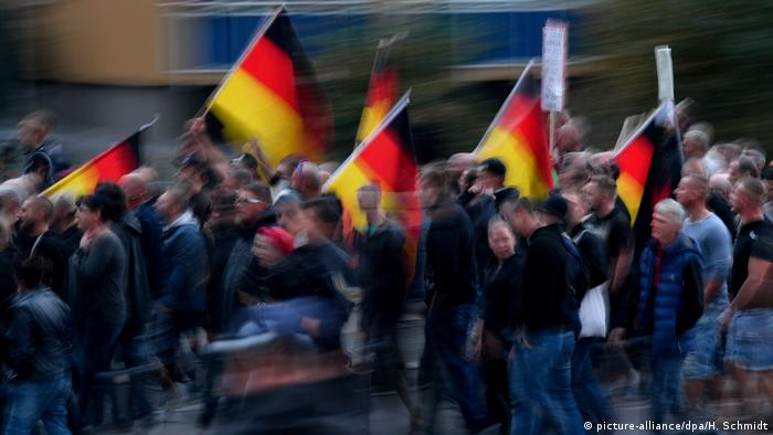 A march in the eastern city of Chemnitz attracted nationalists from across Germany
