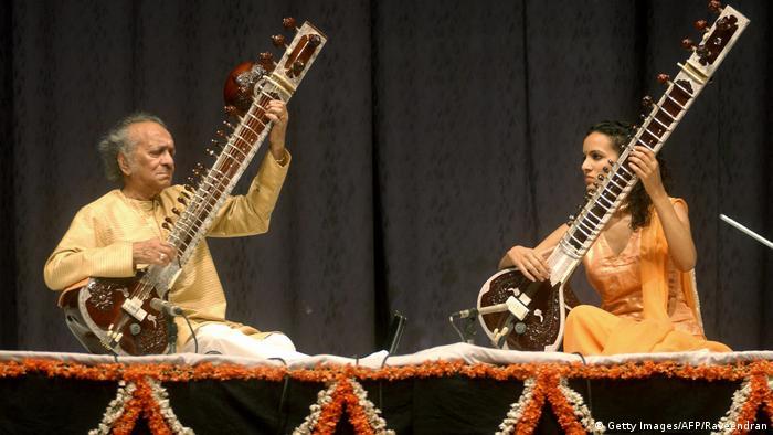 Ravi Shankar y Anoushka Shankar (Getty Images/AFP/Raveendran)