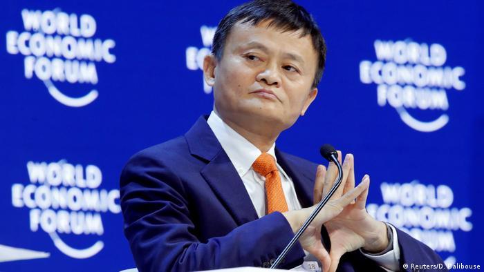 Schweiz Jack Ma beim Weltwirtschaftsforum in Davos (Reuters/D. Balibouse)