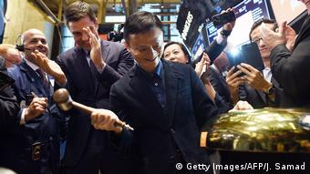 USA Jack Ma an der New Yorker Börse (Getty Images/AFP/J. Samad)