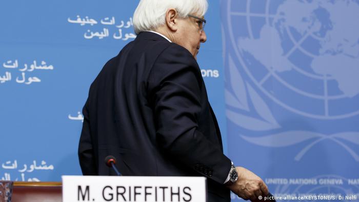 مشاروات السلام حول اليمن في جنيف برعاية المبعوث الأممي غريفيث انتهت قبل أن تبدأ بسبب مقاطعة الحوثيين لها