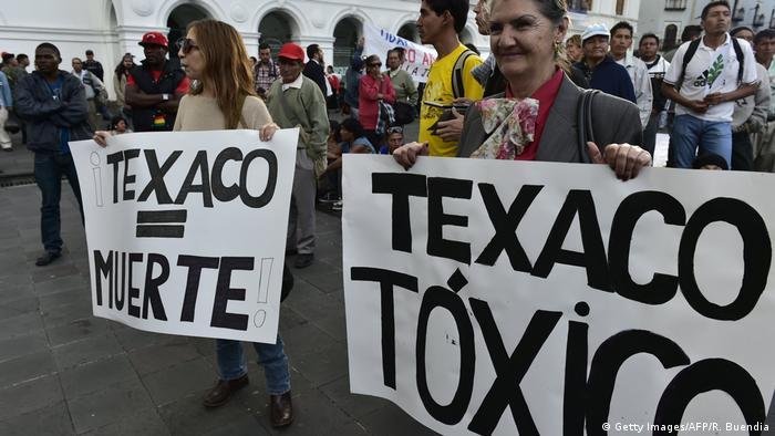Ecuador Demonstration gegen Chevron