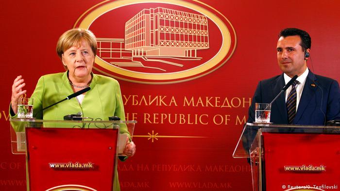Mazedonien Besuch Kanzlerin Merkel und Premierminister Zoran Zaev